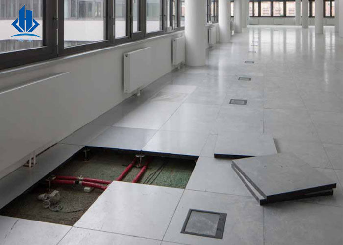 Antistatic 600*600mm Wooden Raised Floor Replacement Tiles HPL Surface